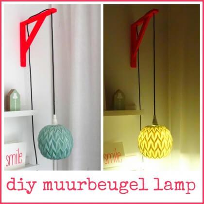 diy muurbeugel lamp