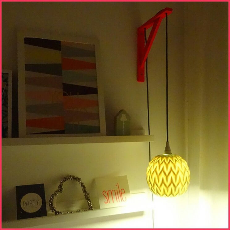 diy muurbeugel lamp