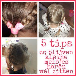 5 tips zo blijven de haren van je kleine meisje wel vast zitten