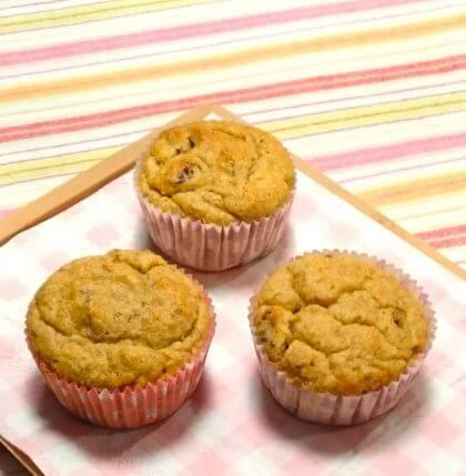 Picknicken met kinderen lekkere recepten - bananen rozijnen muffins