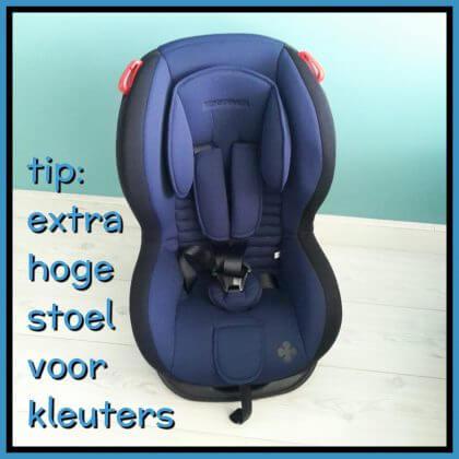 Tip extra hoge autostoel voor peuters en kleuters die wagenziek worden