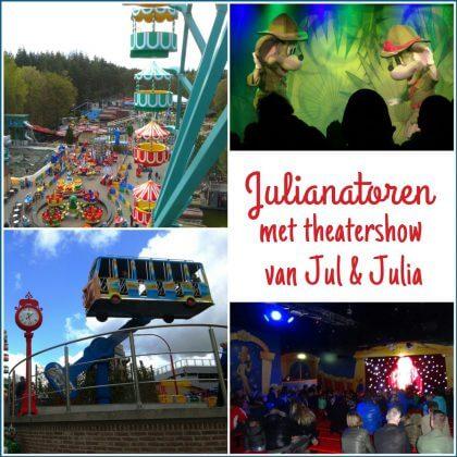 Uitje met kids de Julianatoren met de theatershow van Jul & Julia