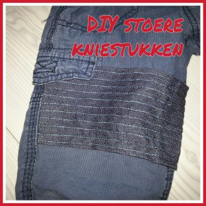 DIY: stoere rechthoekige kniestukken op kapotte broeken maken