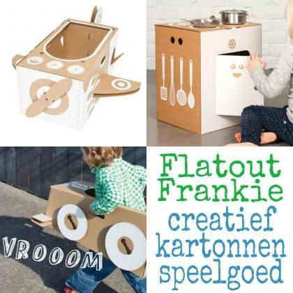 Flatout Frankie: creatief en milieuvriendelijk kartonnen speelgoed