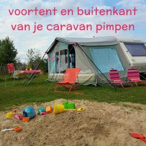 Hippe sleurhut: de voortent en de buitenkant van je caravan pimpen