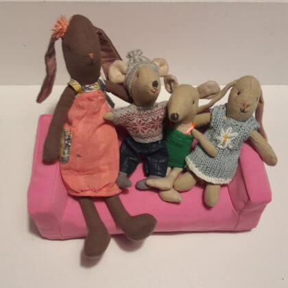 Maileg muizen en konijnen voor poppenhuis