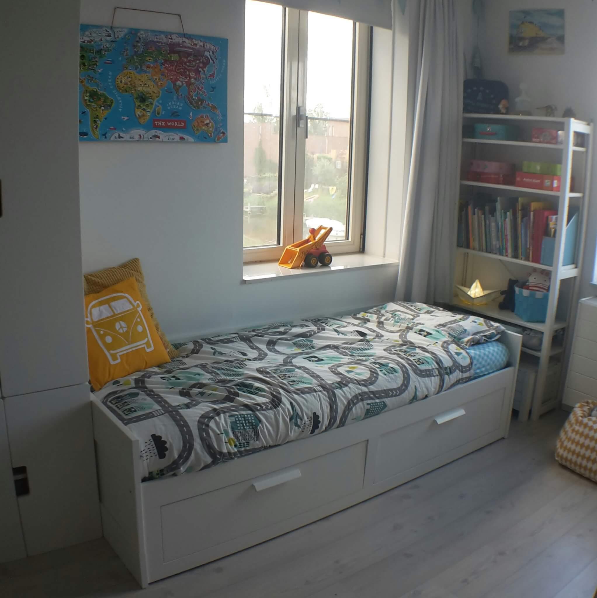 Inspiratie met een witte basis houd je de kinderkamer rustig leuk met kids - Kamer van de moderne jongen ...