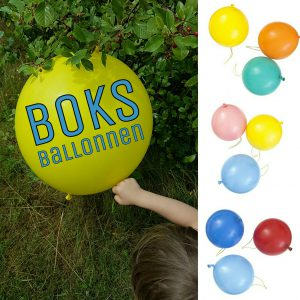 Boks ballonnen: leuk om mee te spelen