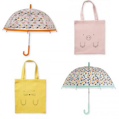 cadeaus 4 jaar - Bandjo tasje en paraplu