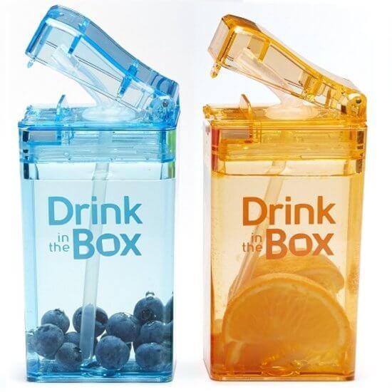 De leukste broodtrommels en drinkbekers voor school drink in the box navulbaar pakje