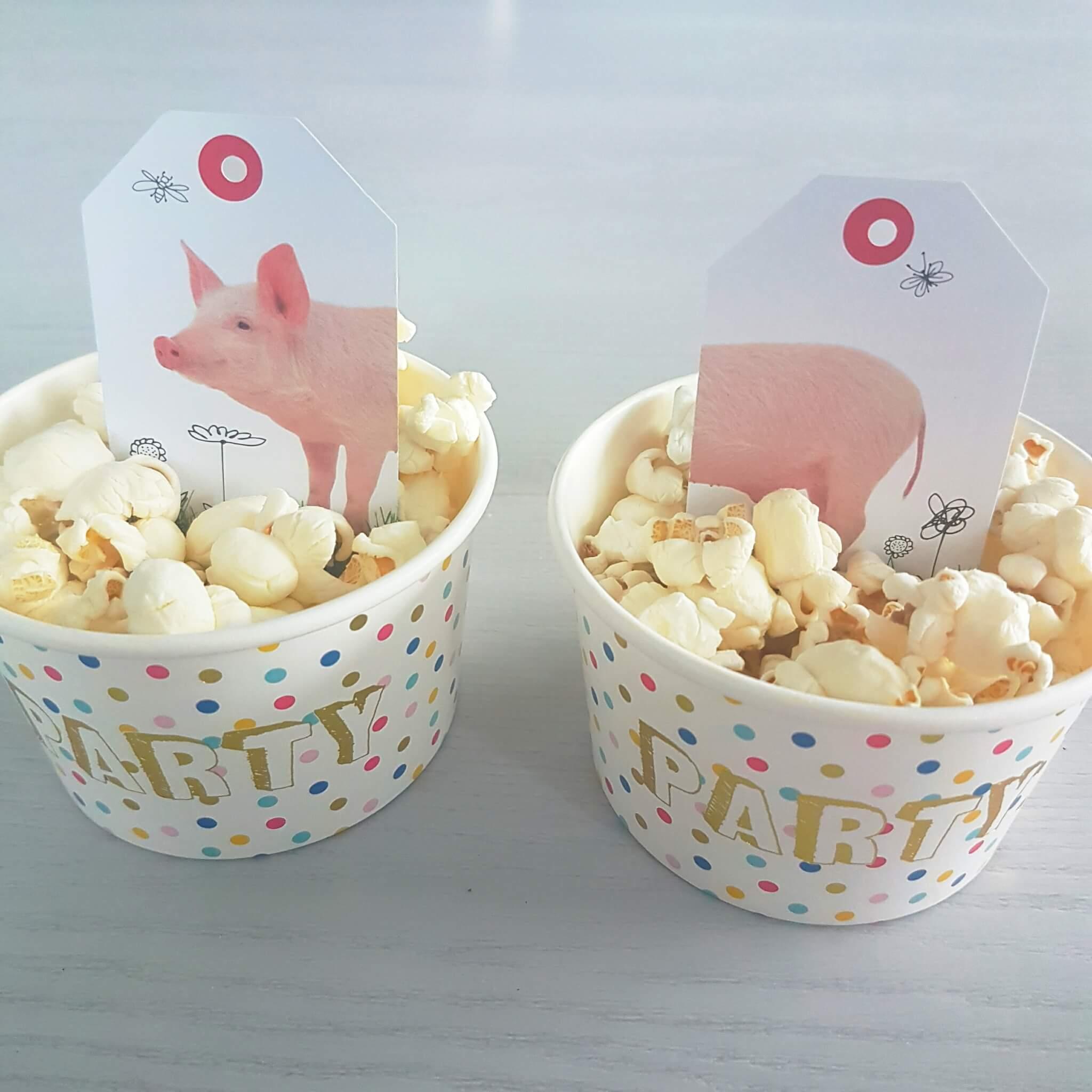 Snelle traktatie voor school: bakje popcorn mét een leuk spelletje