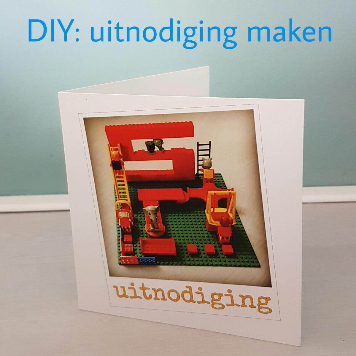 DIY: een uitnodiging voor je verjaardagsfeestje zelfmaken