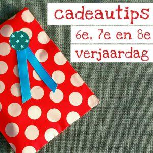 Verjaardagscadeau voor kids van 6, 7 of 8 jaar: leuke cadeau tips voor de kinderen