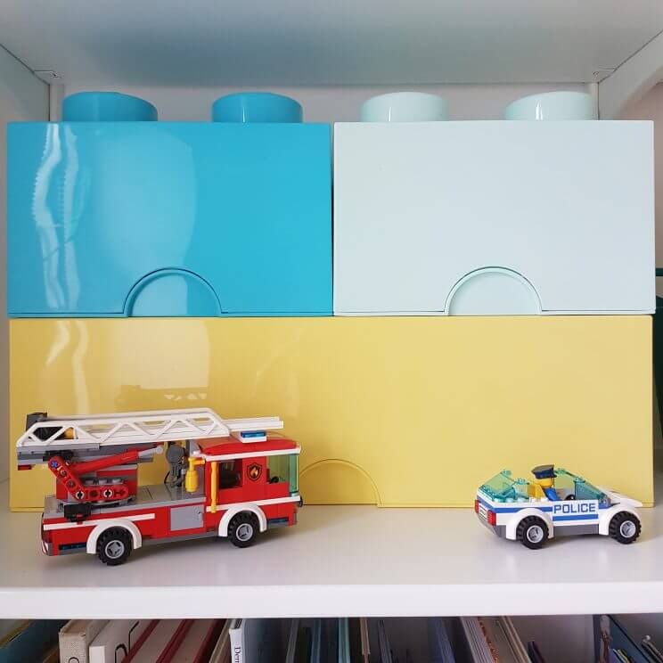 De leukste opbergmanden en opbergdozen voor de kinderkamer - Lego brick