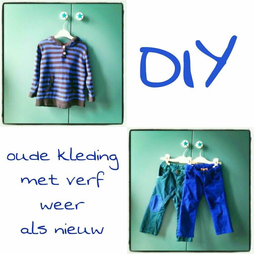 DIY: oude kleding met verf weer als nieuw