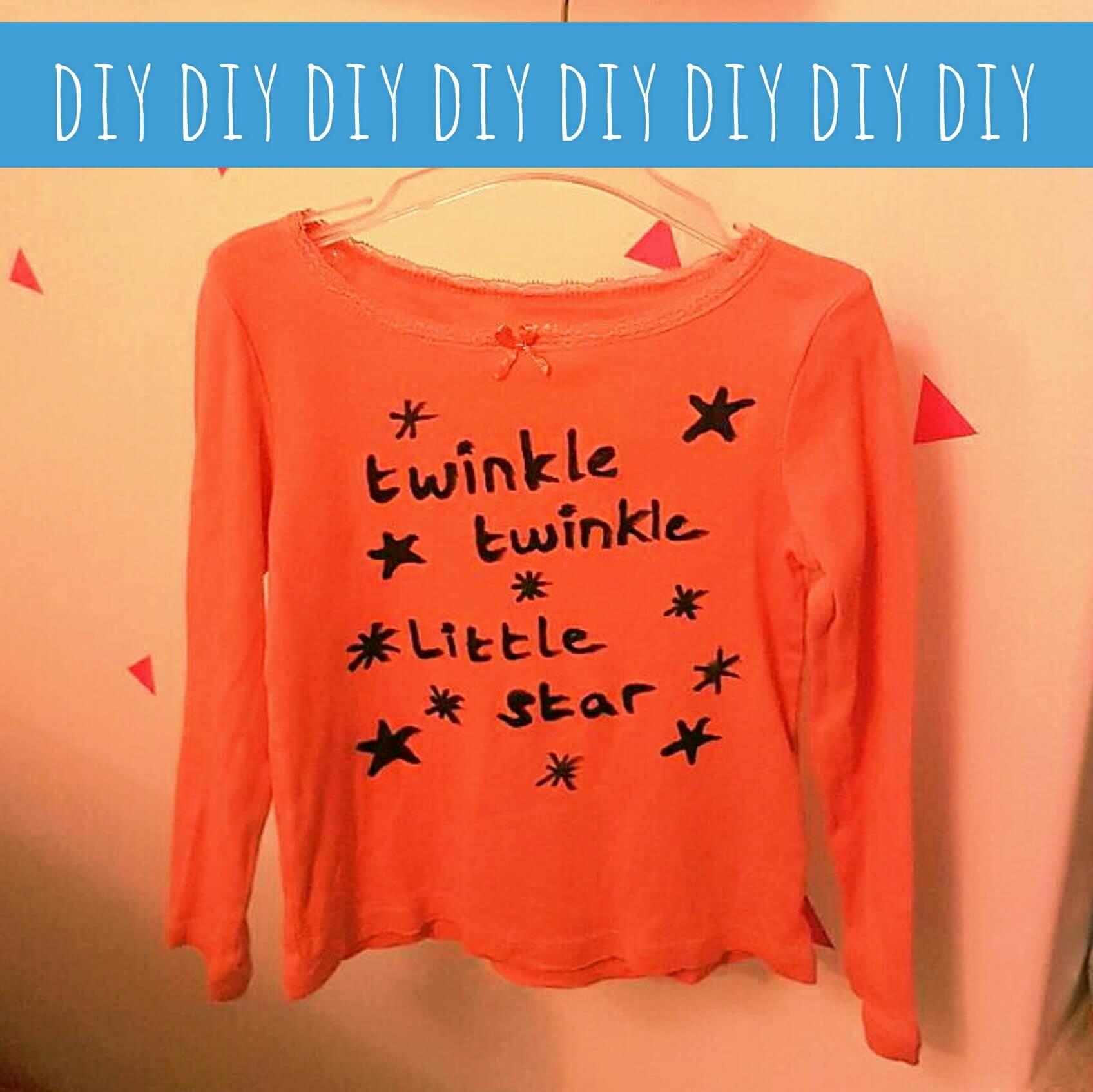 DIY: shirtje versieren met textielstiften