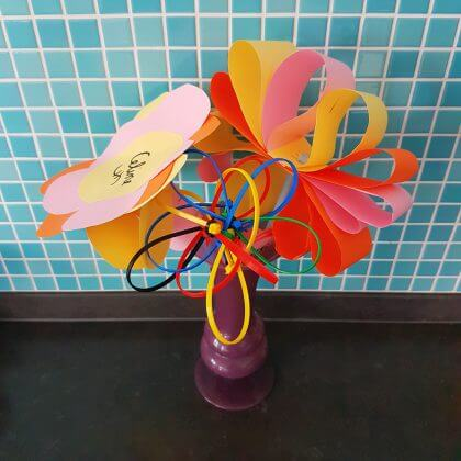 bloemen knutselen voor vaderdag of moederdag