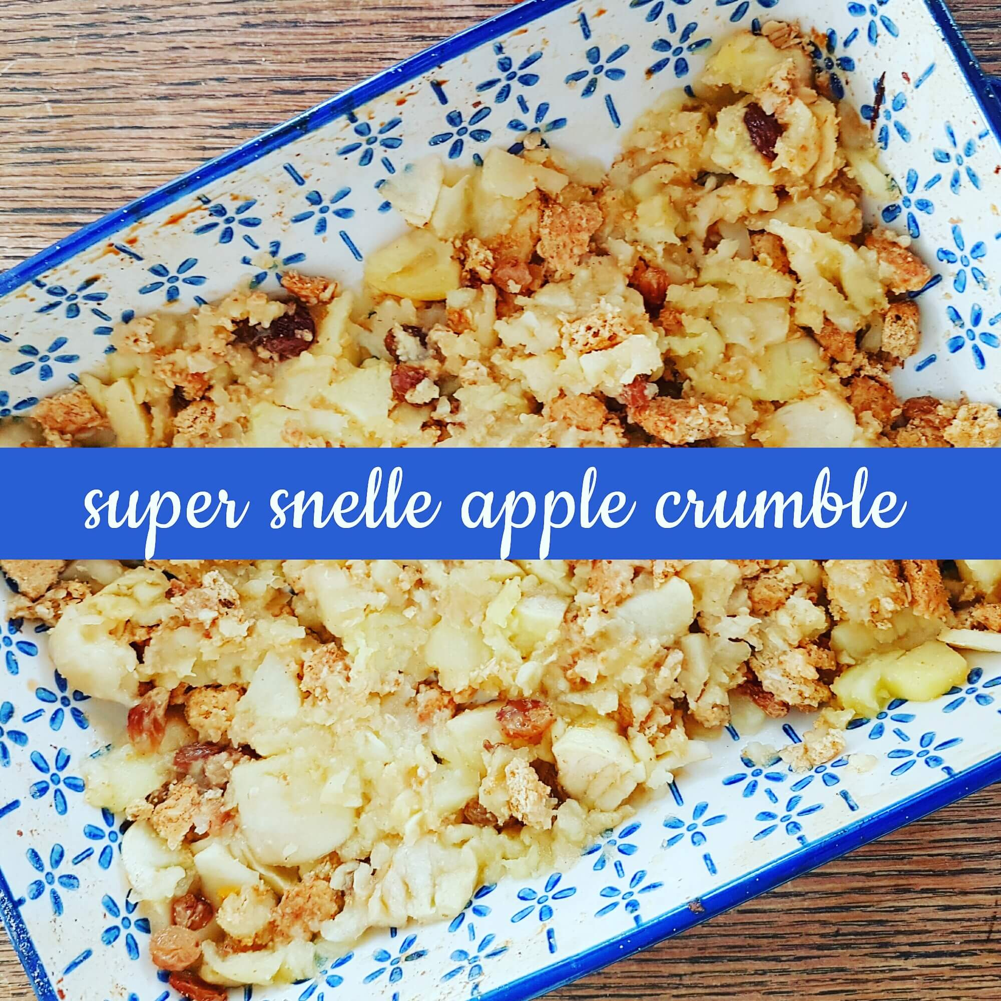 Recept voor super snelle apple crumble