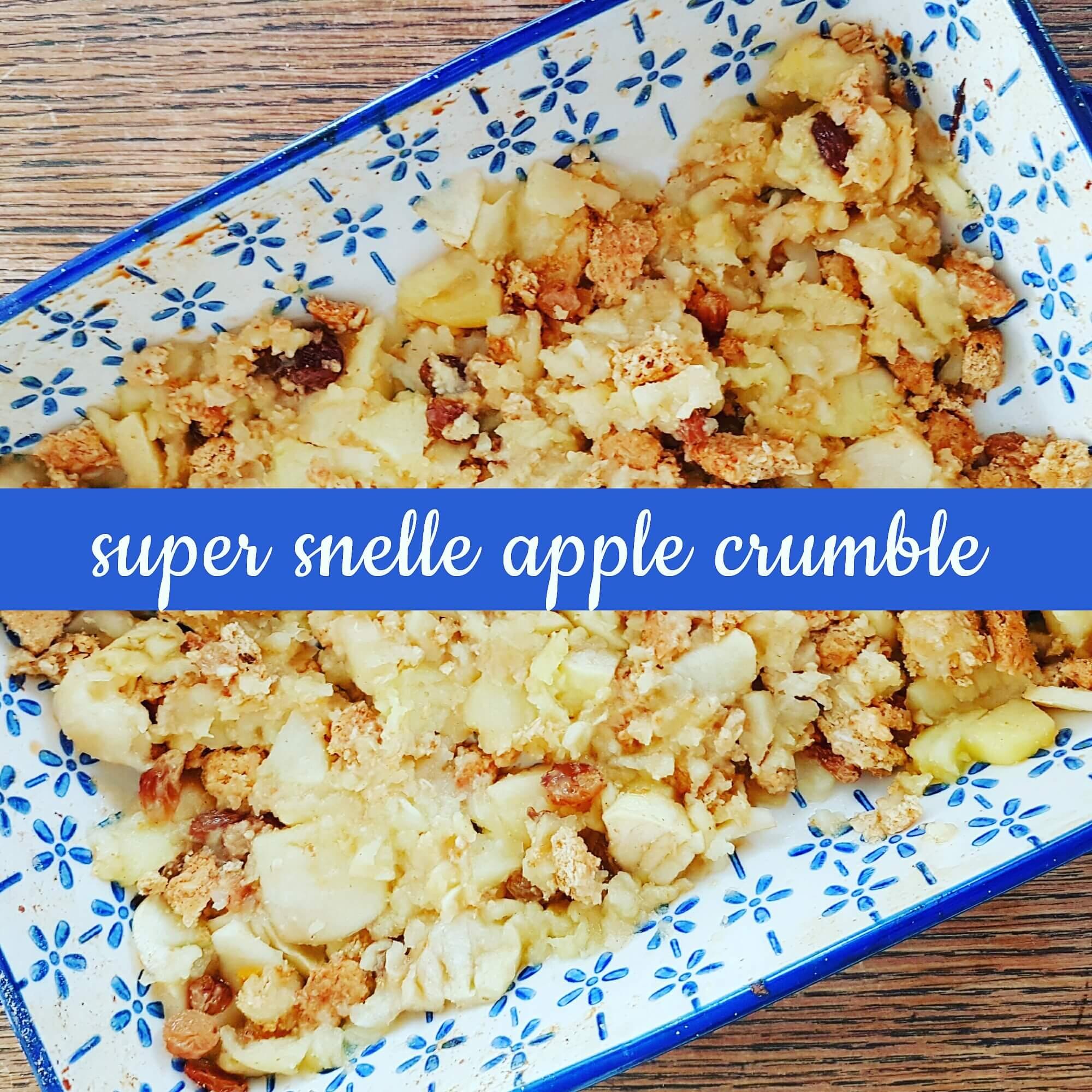 Recept voor super snelle apple crumble