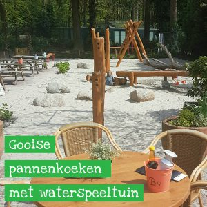 Pannenkoekenrestaurant met natuur- en waterspeeltuin in het Gooi