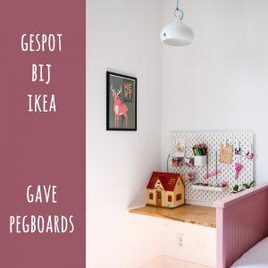 Gespot bij Ikea: gave pegboards