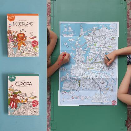 Very Mappy XL kleurplaat Europa of Nederland Mappy klapper