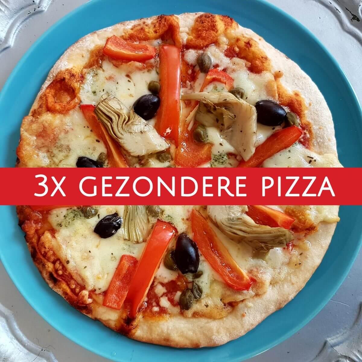 Recepten voor gezondere pizza: drie opties