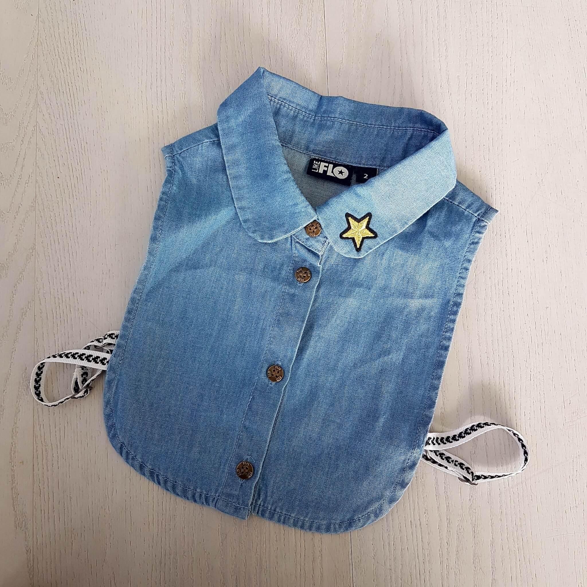 Kinderkleding trend: een los kraagje voor onder een trui of jurk - Like Flo