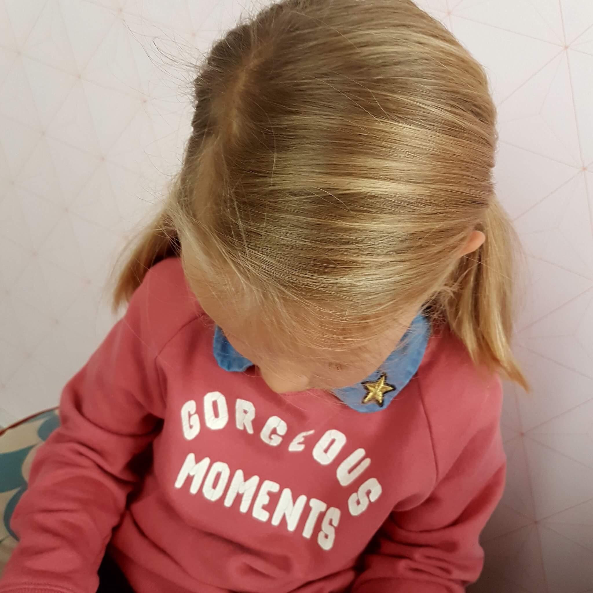 Kinderkleding trend: een los kraagje voor onder een trui of jurk