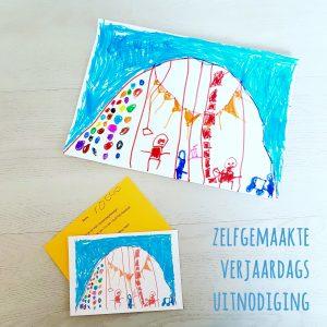 DIY voor kinderfeestje: een zelfgemaakte verjaardagsuitnodiging