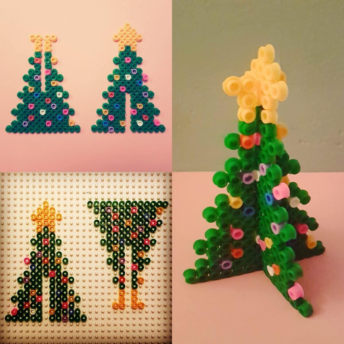 Kerst knutselen: heel veel leuke ideeën - strijkkralen 3d kerstboom