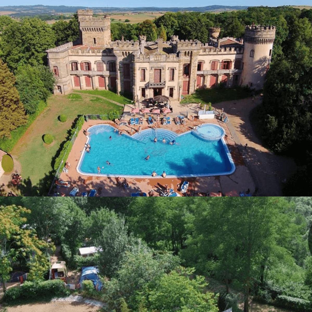 101 leuke idyllische campings in Frankrijk met kids #leukmetkids Camping Château de Grange Fort, Les Pradeaux, Auvergne
