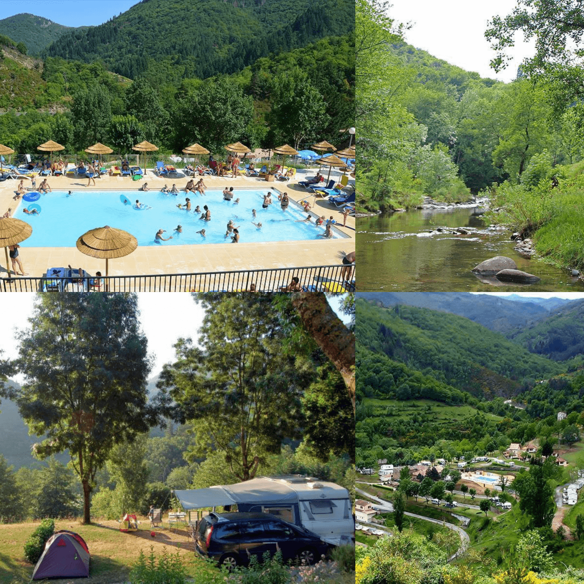 101 leuke idyllische campings in Frankrijk met kids #leukmetkids Camping l'Ardéchois, Saint-Sauveur-de-Montagut, Ardéche, Rhône-Alpes
