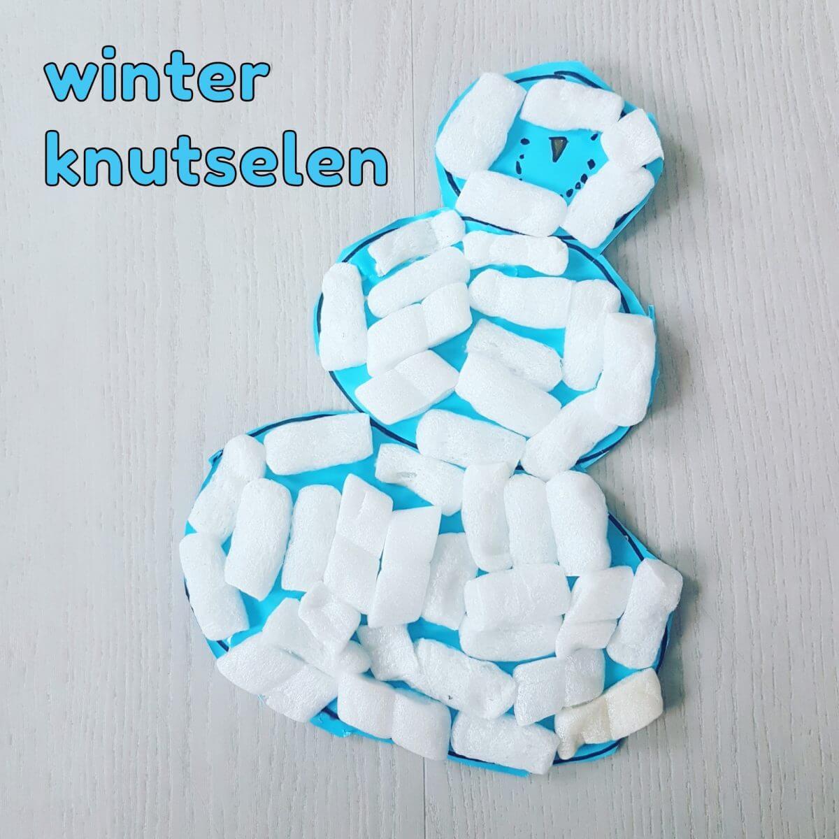 Winter knutsels: met de kinderen knutselen in winter thema - sneeuwpop funmaïs