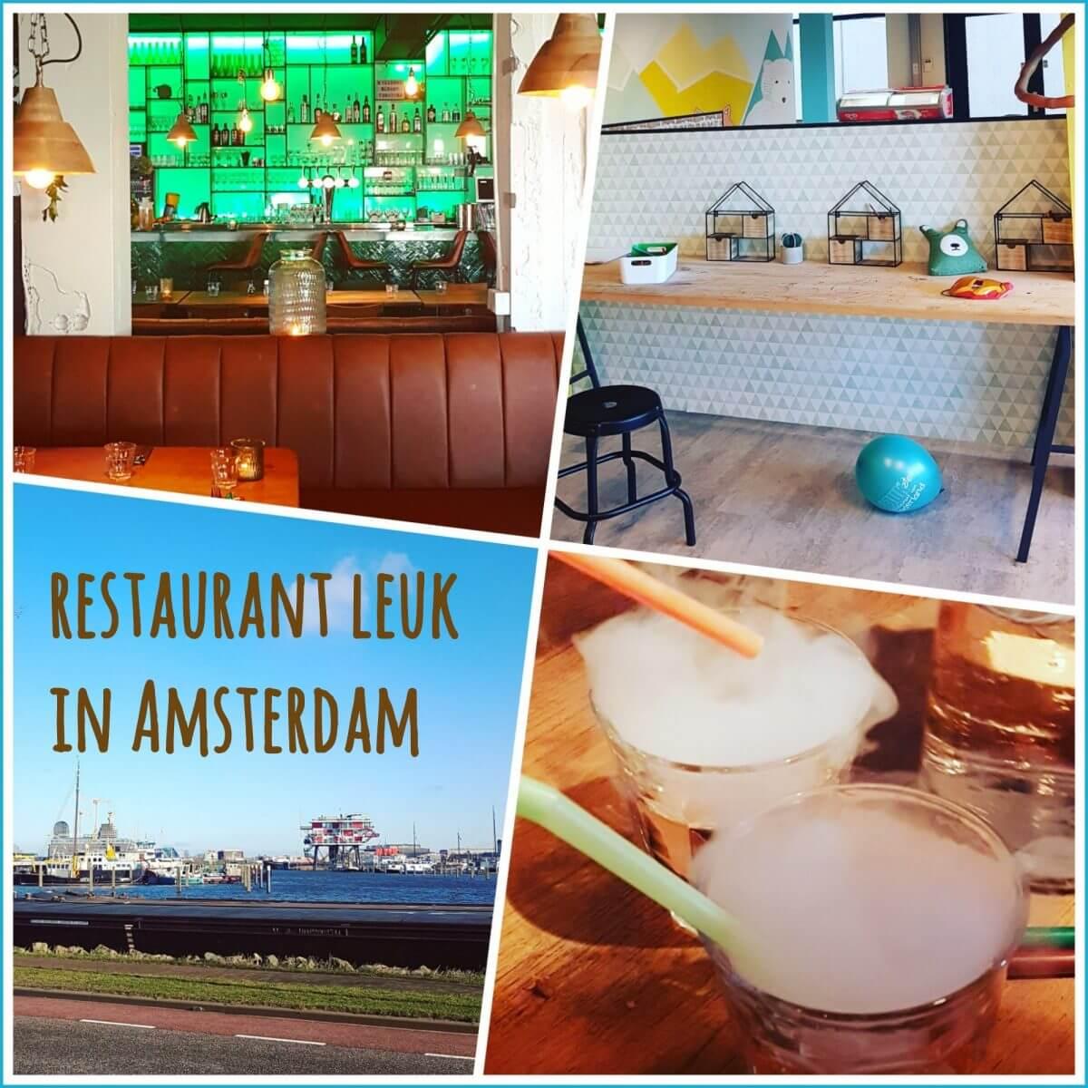 Kindvriendelijk restaurant LEUK Amsterdam: lekker kletsen terwijl de kids in de speelzaal spelen, Houthavens Amsterdam West kinderen, Dantzigerkade 8,