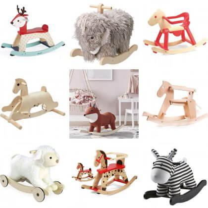 kraam cadeau voor baby: karretjes en hobbelpaarden