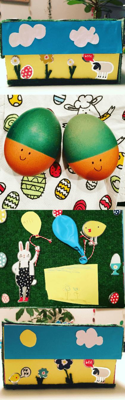 Paasdoos knutselen: de leukste ideeën voor het paasontbijt op school, met geverfde eieren