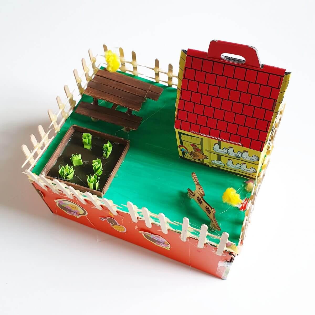 Paasdoos knutselen: de leukste ideeën voor het paasontbijt op school, huisje met tuin en knutselen