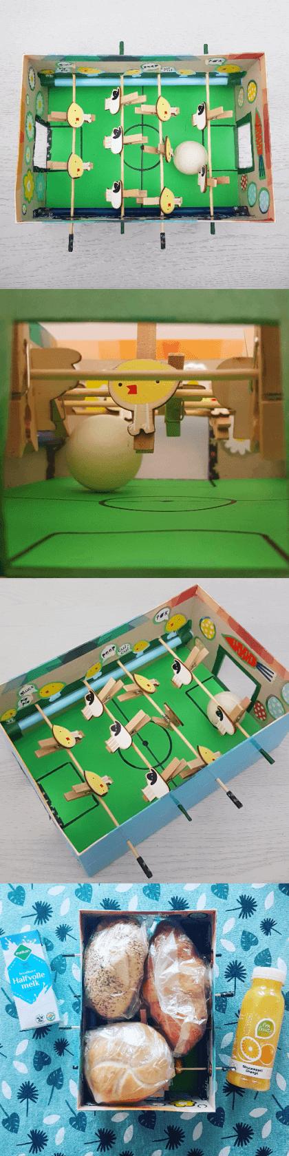 Paasdoos knutselen: de leukste ideeën voor het paasontbijt op school - voetbaltafel-schoenendoos