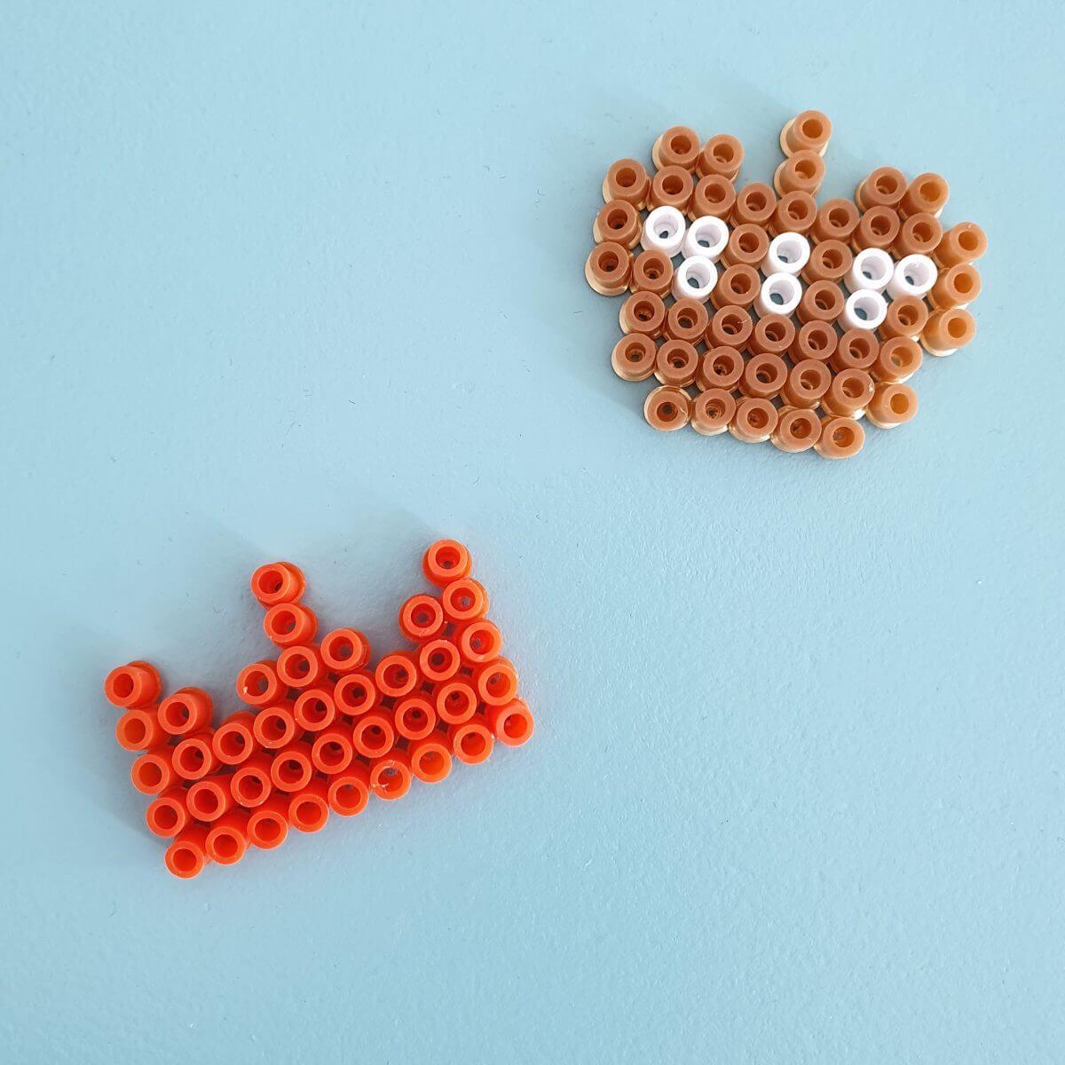 Knutselen voor Koningsdag en Oranje: strijkkralen