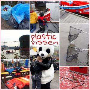 Uitje met kids: Plastic opvissen uit de Amsterdamse grachten