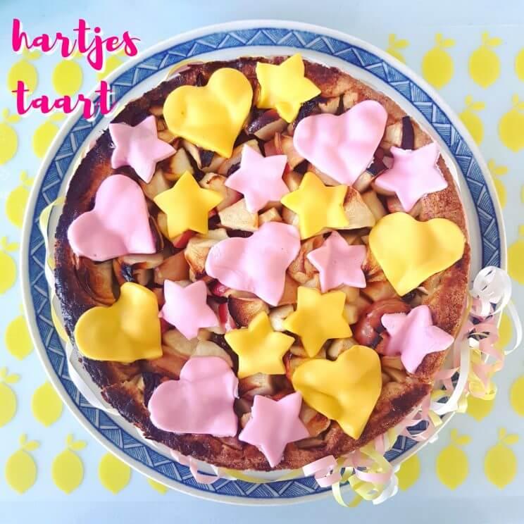 Zelfgemaakte hartjestaart voor de verjaardag van onze prinses