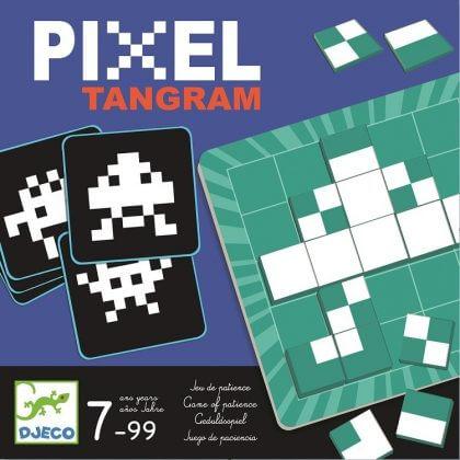 Pixel tangram spel