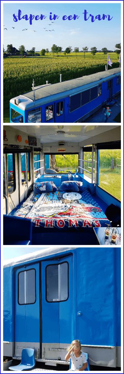 Slapen in een antieke tram... of een vliegtuig, trein of UFO #leukmetkids #kinderen #uitjemetkids #weekendjeweg #lekkerwegineigenland