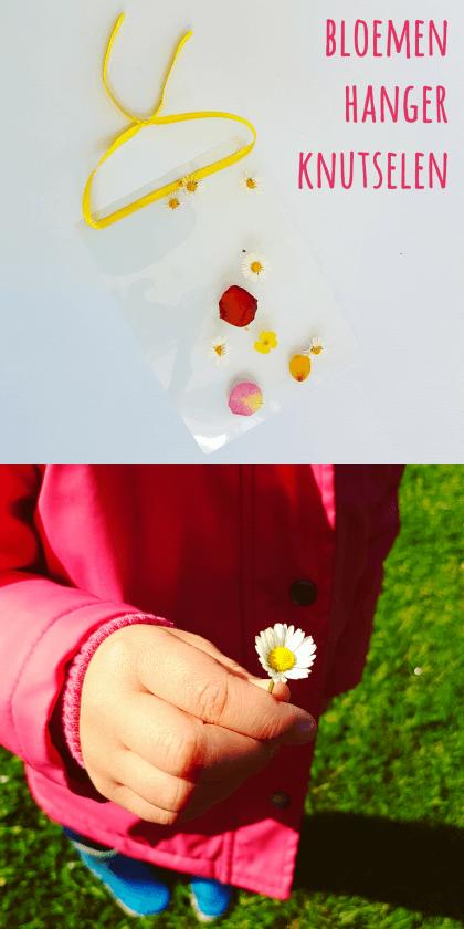 DIY kunst voor kids: een bloemen hanger knutselen #leukmetkids #knutselen #zomer #zomervakantie