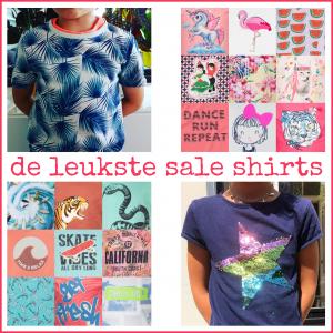 Uitverkoop: de leukste sale t-shirts voor jongens en meisjes