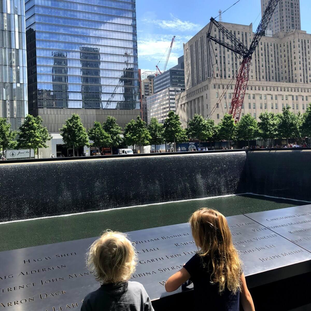 New York City met kids – een stad die tot de verbeelding spreekt! - kinderen in de Big Apple - 9/11 Memorial
