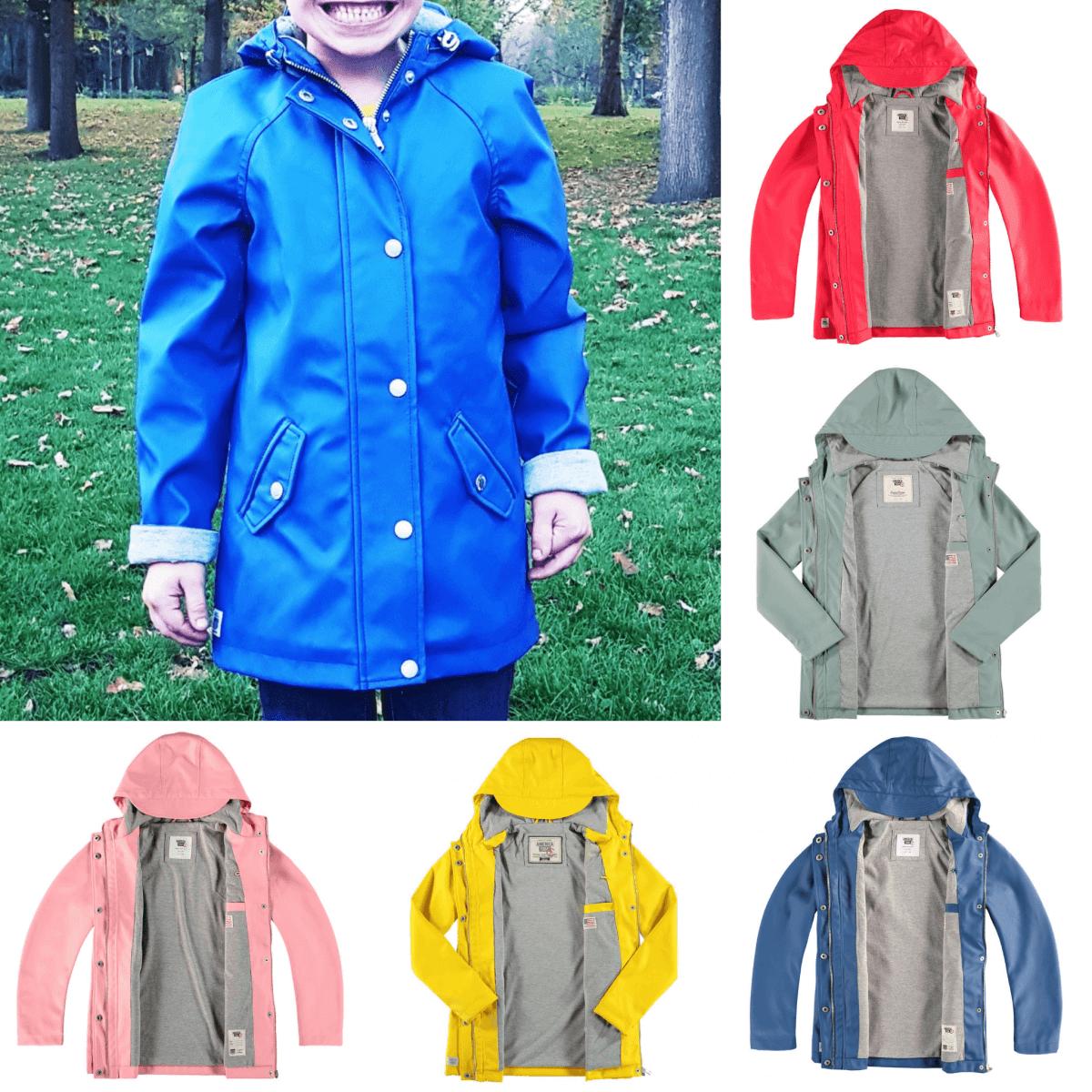 Kleurrijke unisex regenjas voor jongens en meisjes