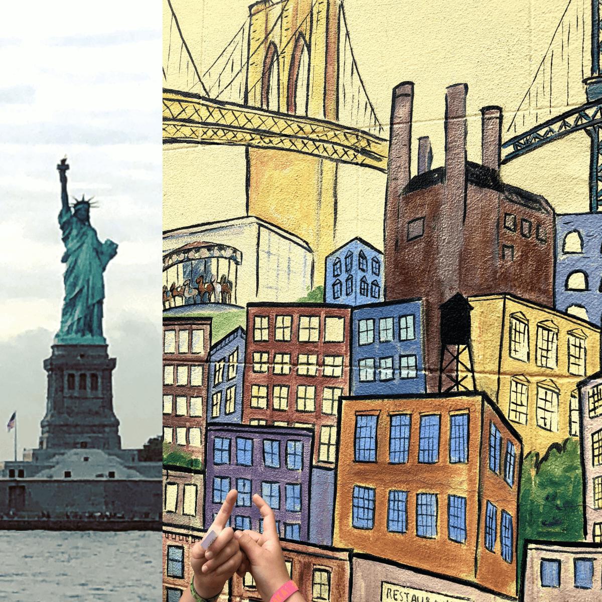 New York City met kids – een stad die tot de verbeelding spreekt! - kinderen in de Big Apple - Vrijheidsbeeld