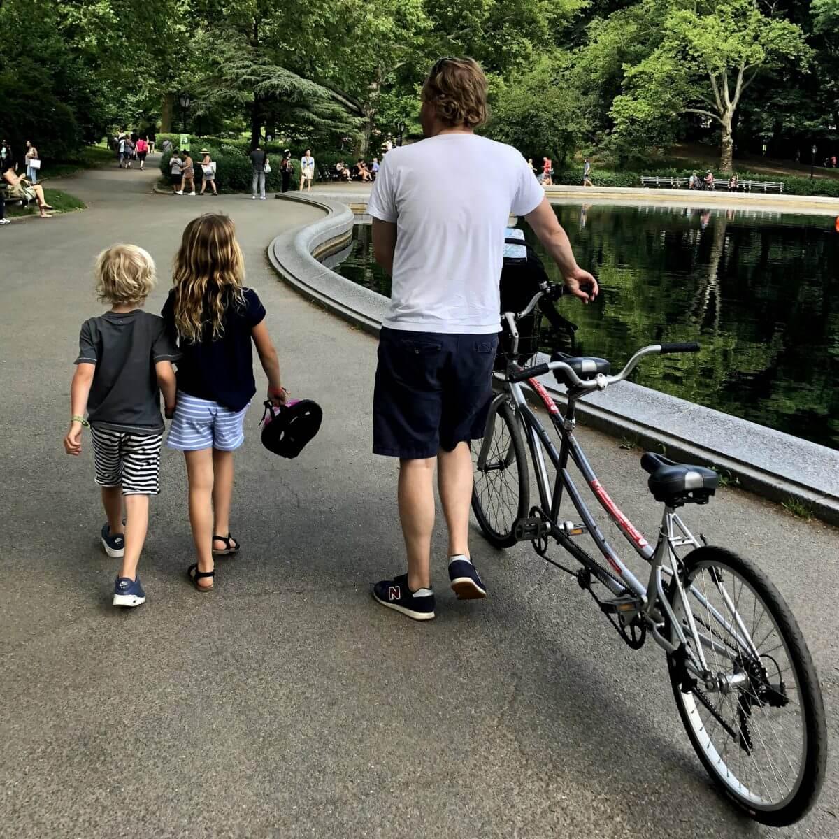 New York City met kids – een stad die tot de verbeelding spreekt! - fietsen in de Big Apple